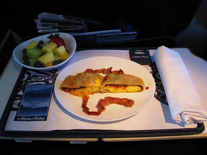 What Will Alaska Be Serving In First Class On Your Flight