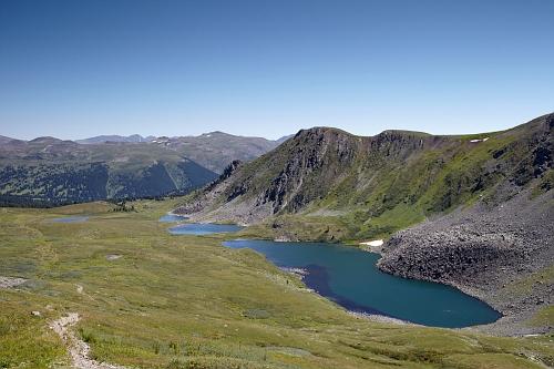 Айрыкские озера, вид с перевала