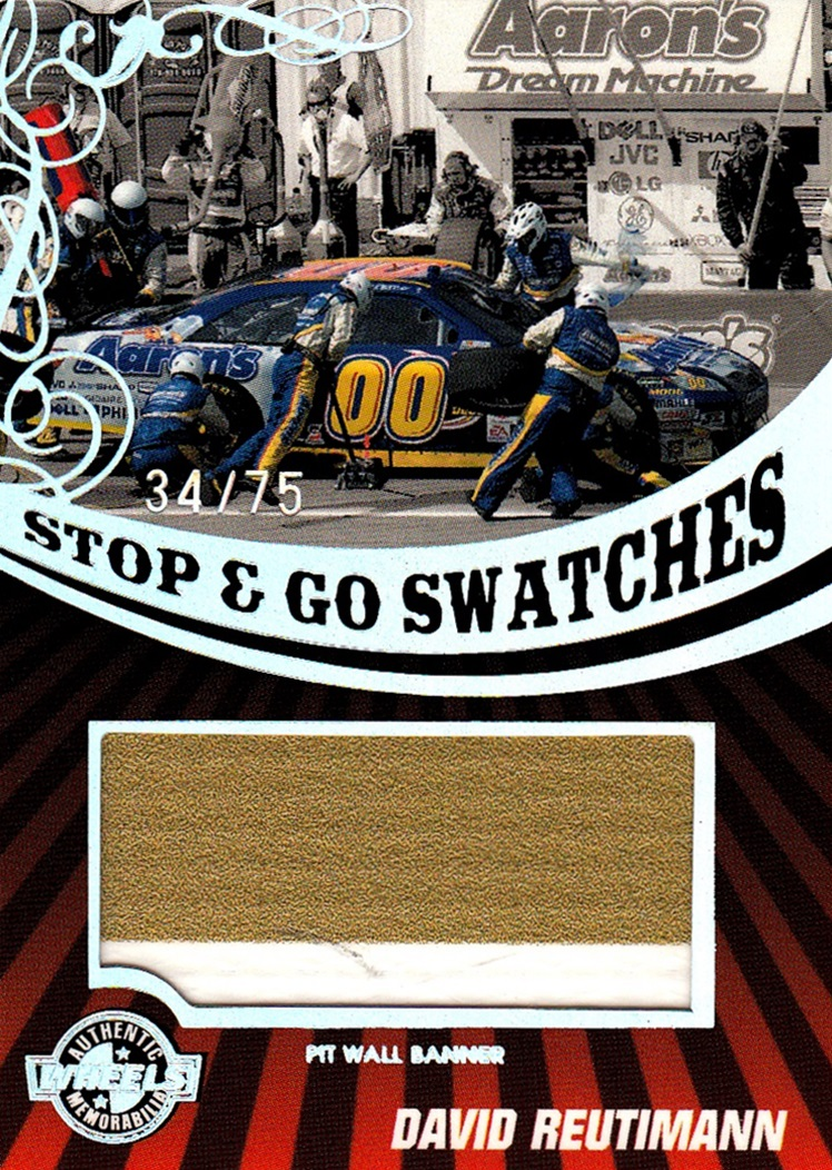 2009 Wheels Main Event Stop & Go Swatch David Reutimann (1)