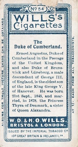 1908 Wills European Royalty #054 (2)