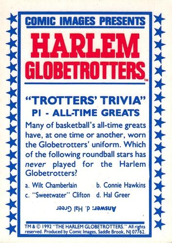 1992 Harlem Globetrotters Prizm #P1 (2)