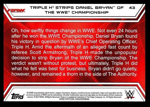 2014 Topps Road to Wrestlemania #043 (2)