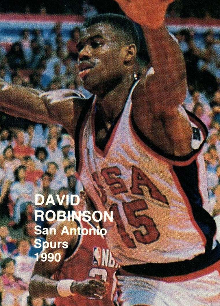 1990 NBA Superstars (blue back) David Robinson (1)