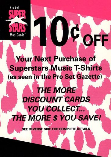 1991 Pro Set Super Stars MusiCards 10 Cents Off Coupon (1)