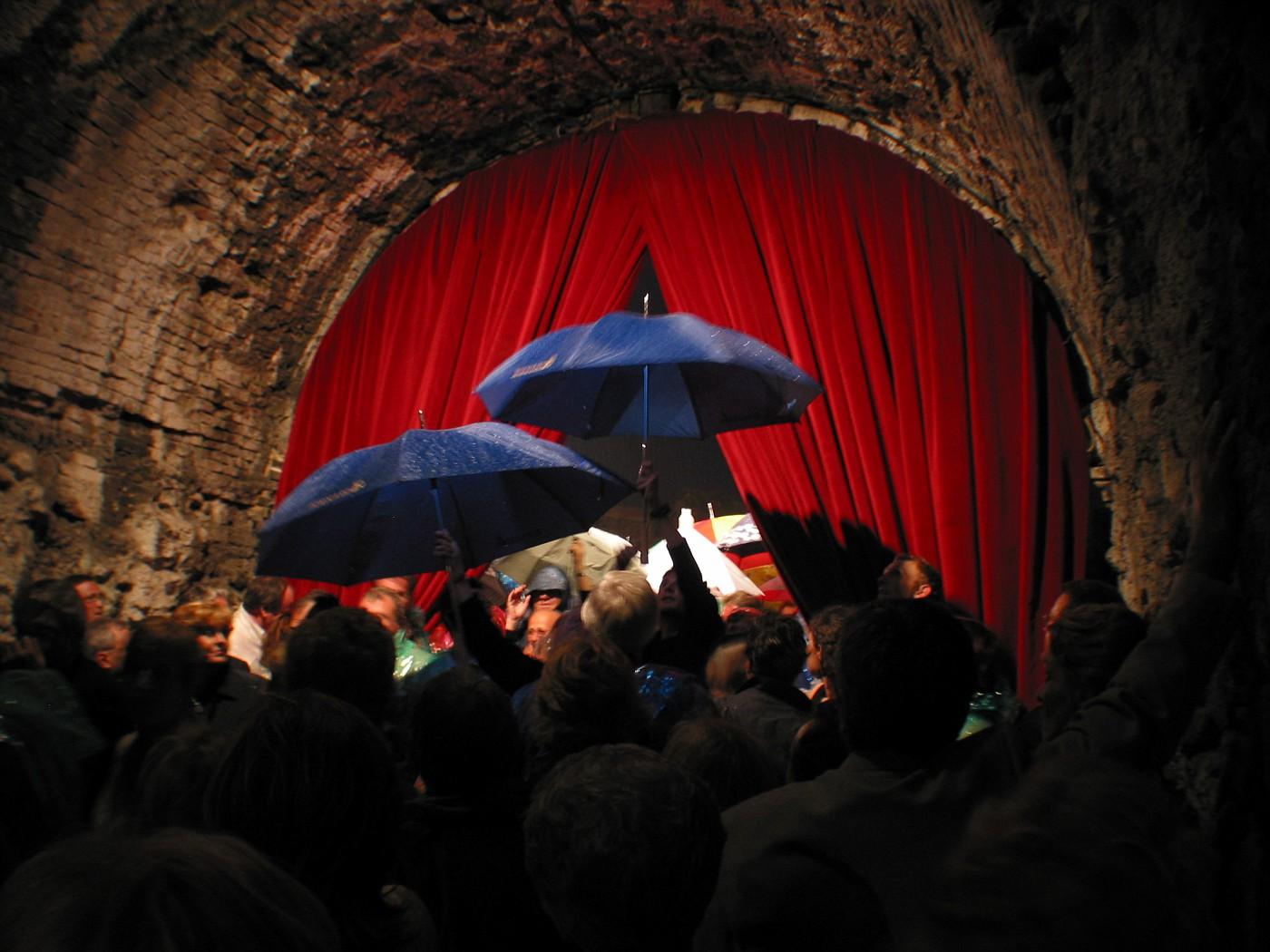 Escape from the rain in Verona, Italy