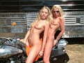 Mother/daughter naked biker babes
