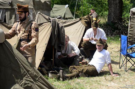 Diorama obozu wojska rumuńskiego