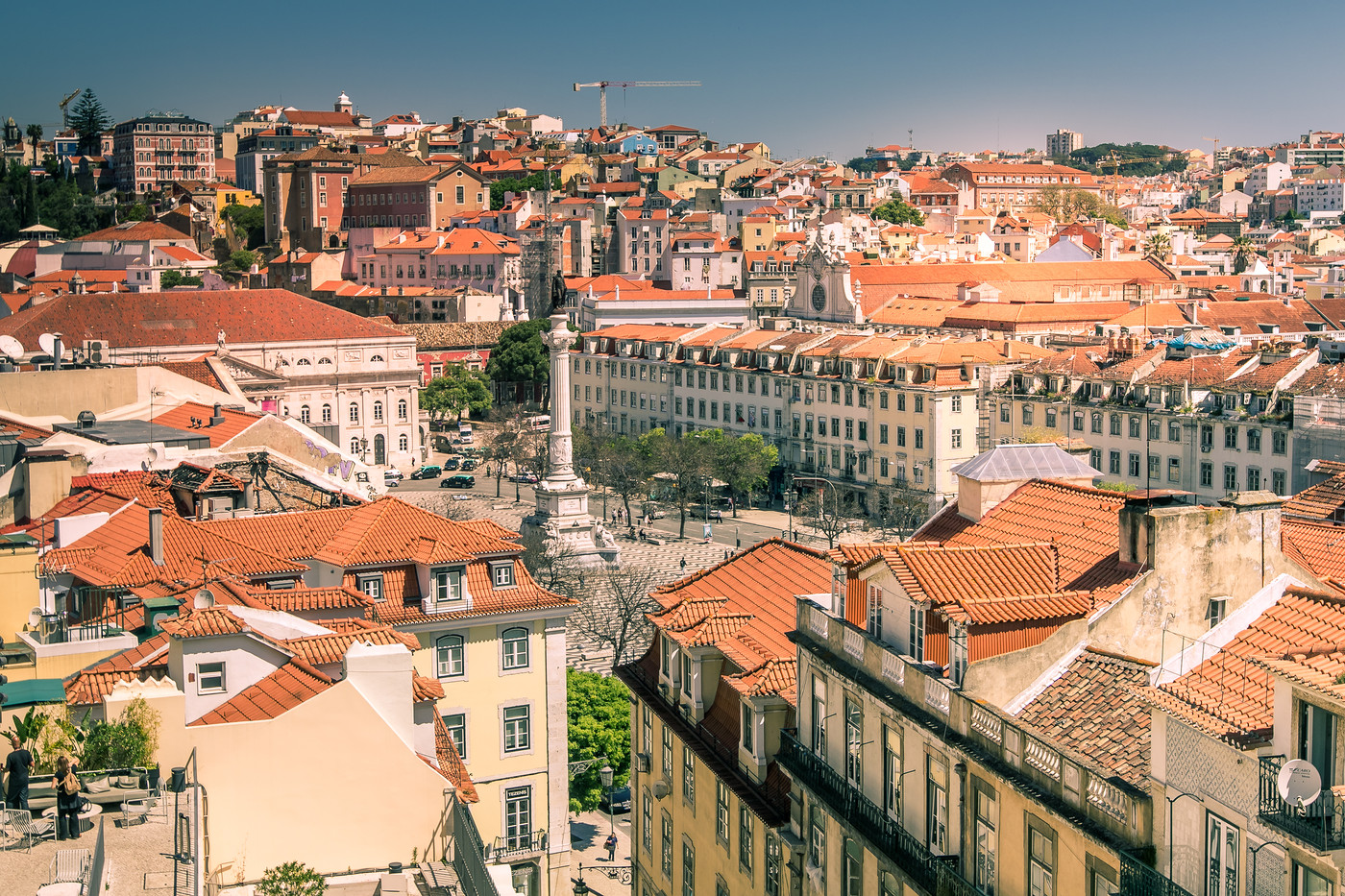 Roofs in Lisbon