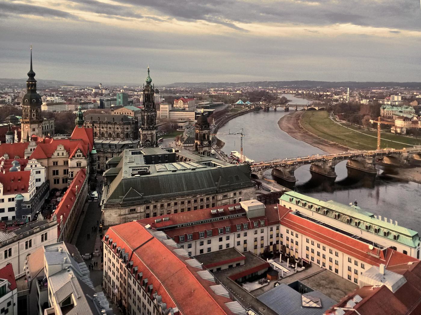 Blick von der Frauenkirche Richtung Schloss