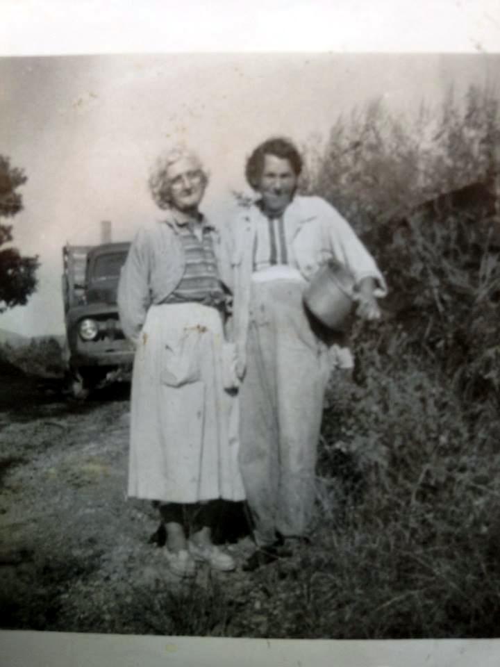 Nora (BAIRD) Lay, and Bertha Crabtree
