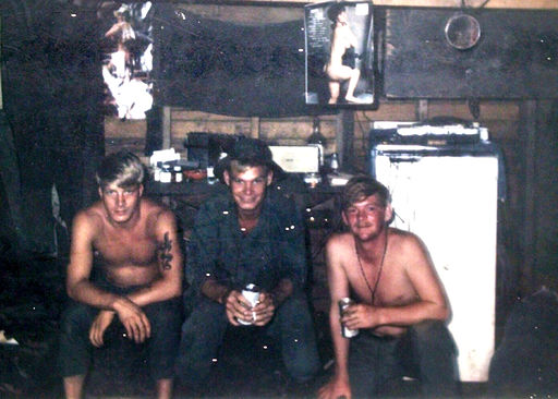 #6-Specialist 5, Terry Carver on Left. Middle is Mike? On the right is Red?