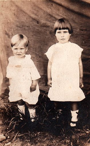 4-Eugene Hershel Foust and sister, Mildred Hazel Foust