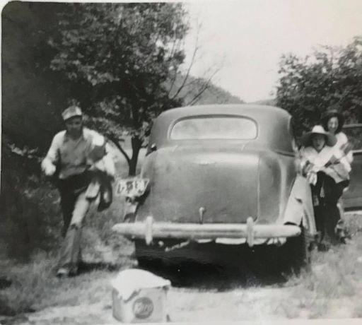 Elwood Sharp on left