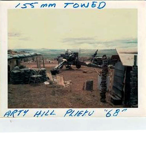 10-155mm Towed Howitzer, Artillery Hill, Vietnam 1968