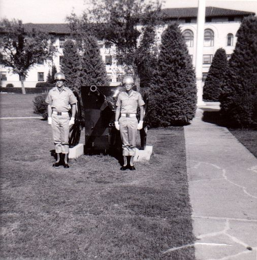 Main Post Headquarters at Fort Sill, OK - ERay on the right in 1967