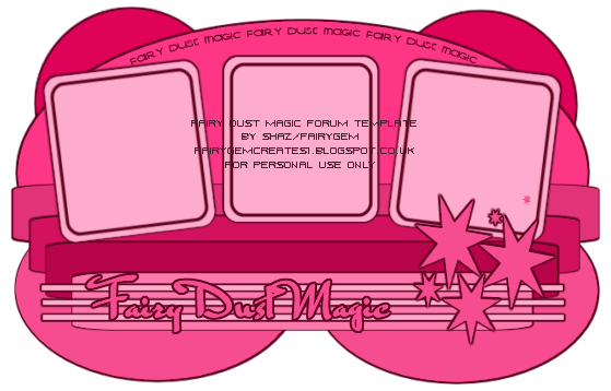 Fairy Dust Magic Forum Template Preview.png