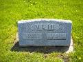 Jennie Sample Muir & Ralph L. Muir grave, Lebanon Cemetery, Lebanon, Van Buren County, Iowa. Photo from Jerry Nelson, Findagrave.com.