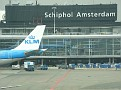 Flew KLM to Schiphol Airport.