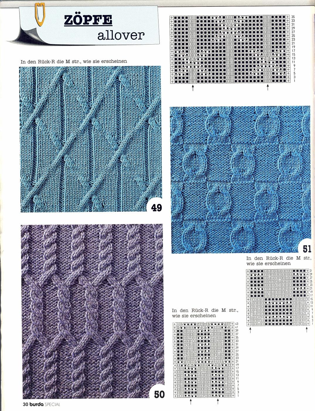 Вязание косой резинки спицами с описанием и схемами