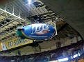 Miller Lite blimp in Key Arena