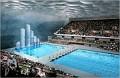 Le Centre national de natation, où se tiendront les compétions de natation, plongeon, natation synchronisée, water-polo.