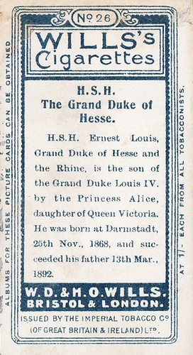 1908 Wills European Royalty #026 (2)
