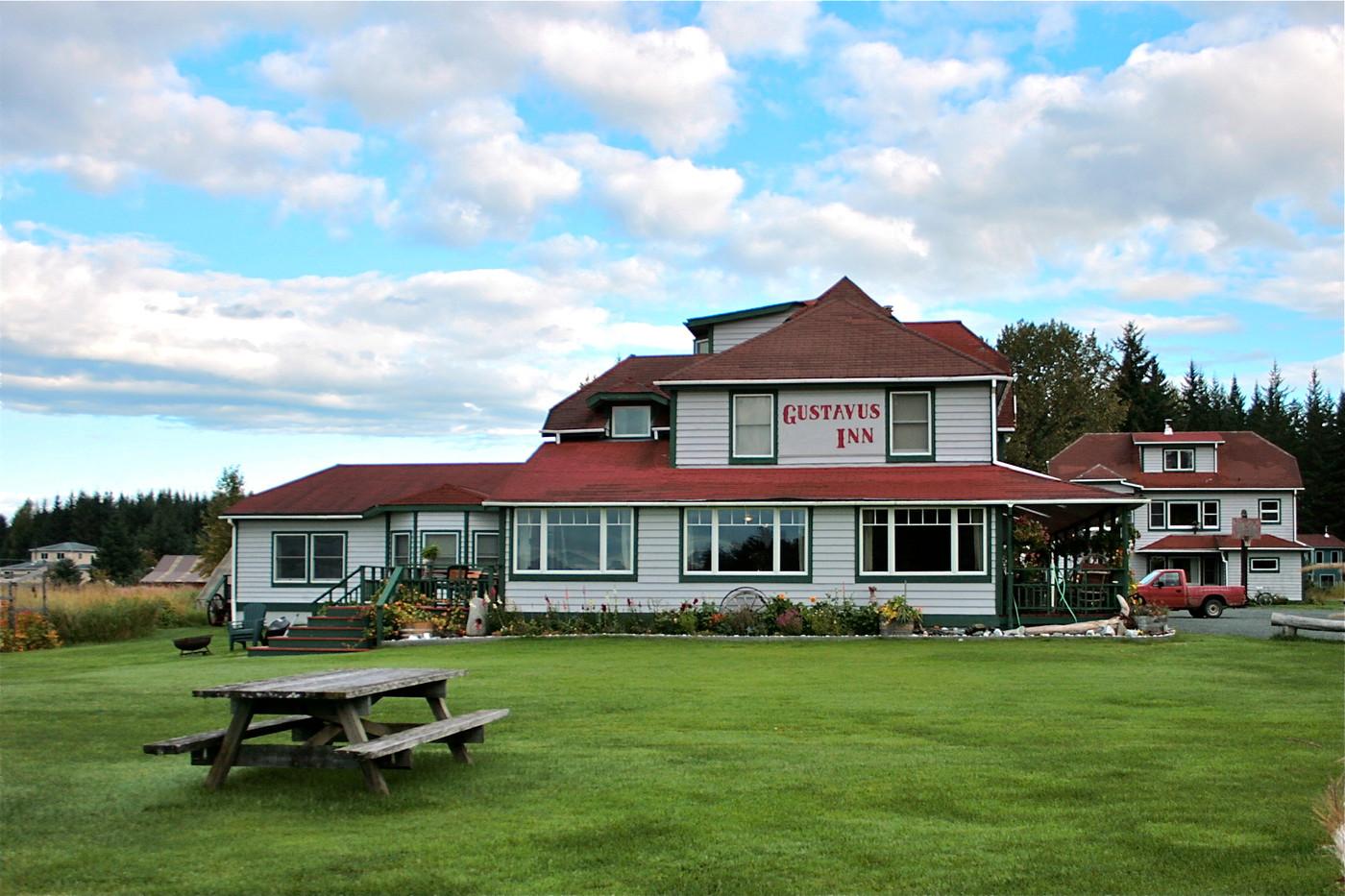Gustavus Inn from the lawn