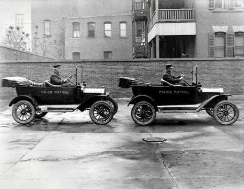 MA-Springfield Police 1916 patrol cars