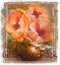 1GladYou'reBack-peachfloral-MC