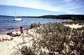 Beach scene at either Lake Mitchell or Lake Cadillac, Cadillac, Michigan