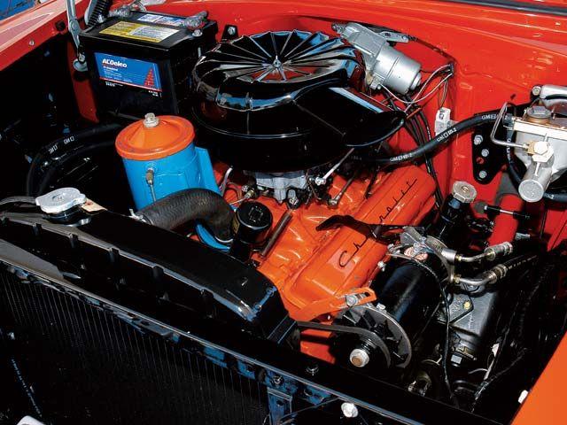 0512 10z+1955 chevrolet bel air+engine view