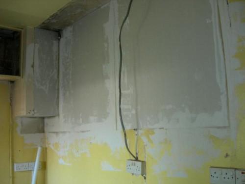 Plastered plasterboard