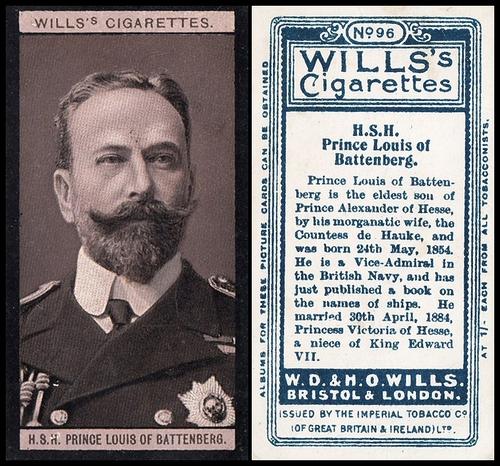 1908 Wills European Royalty #096