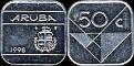 Aruba 1998 50 cents