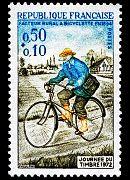 Rural postman on bicycle in 1894