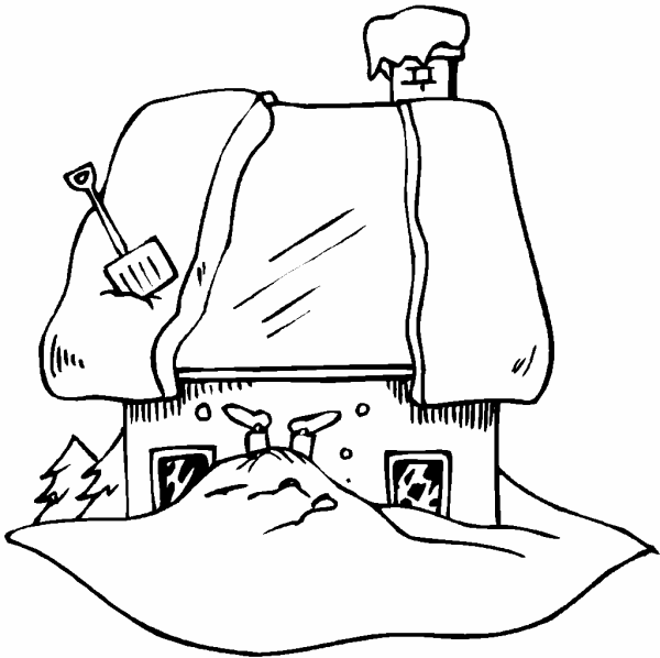 Free snow day coloring pages for Snow day coloring pages