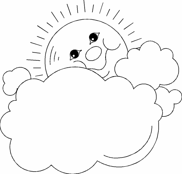 rain clouds and sun coloring pages