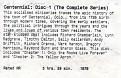 Centennial Disk 1 Label