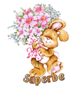 Superbe - BunnyWithFlowers