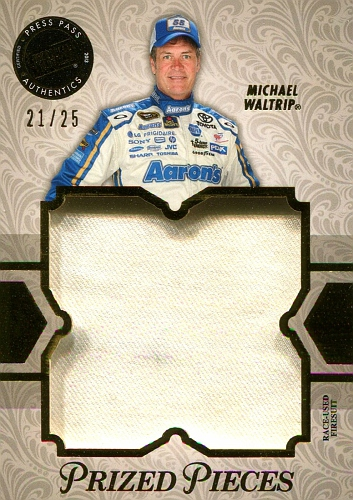 2013 Showcase Prized Pieces Gold Michael Waltrip  (1)