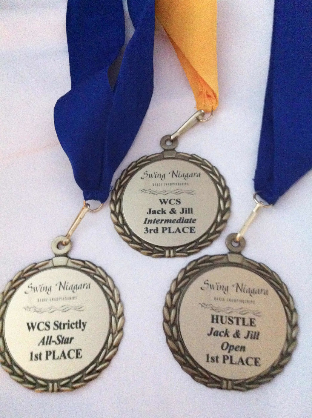 Anna Novoa's Medals from Swing Niagara