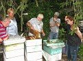 Jersey Cape Beekeepers Meeting at Bill Eisele's Farm 9-20-08.
