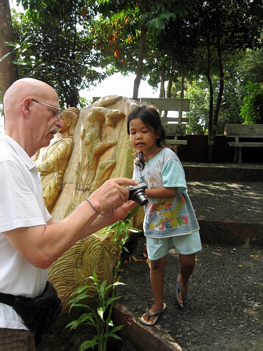 Walt with his Cambodian 'guide'.
