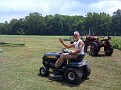 There is about 2 acres of grass to cut.