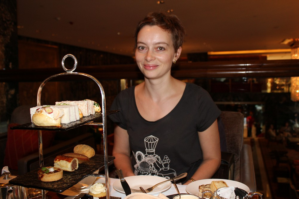 HK: High tea time at Manadarin Oriental