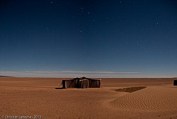 Bivouac under the stars in the desert